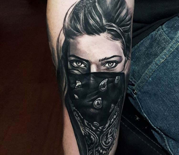 Gangsta Girl Tattoo By Tyler Malek
