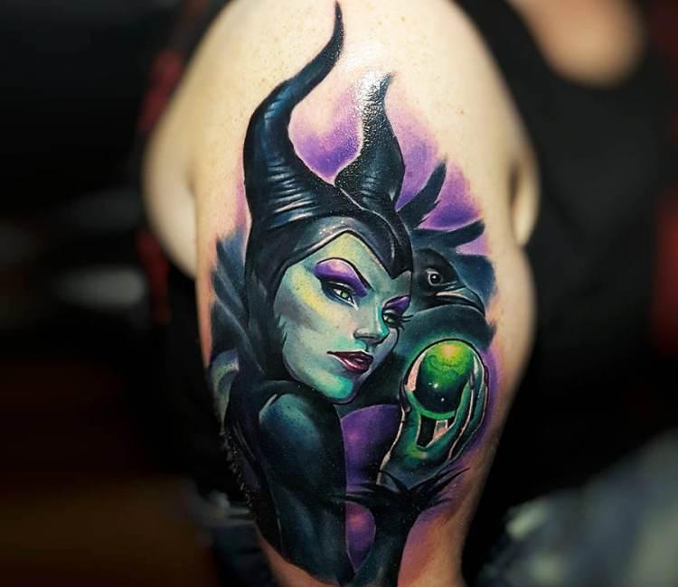 Maleficent Tattoo By Tyler Malek Post 18867