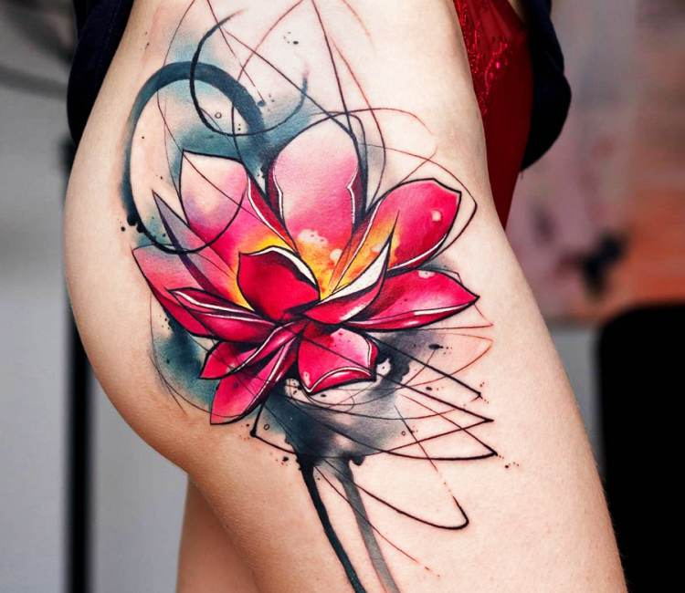 Lotus flower tattoo by uncl paul knows post 20838 mightylinksfo