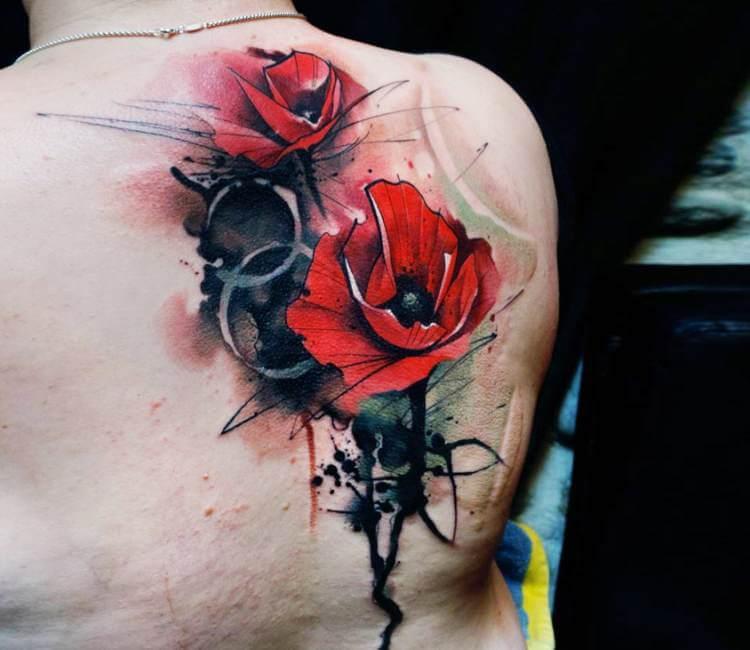 Poppy flowers tattoo by uncl paul knows post 20453 mightylinksfo