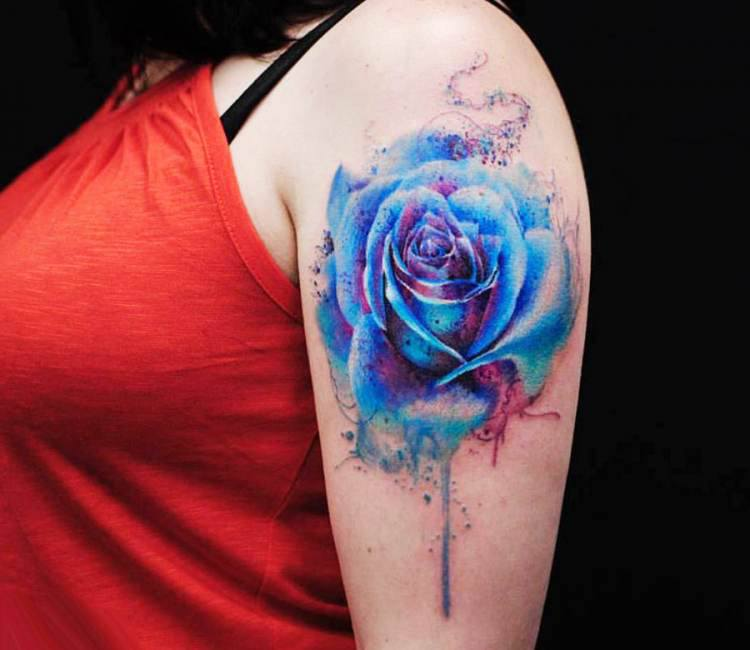 9f016e93b1339 Blue Rose tattoo by Versus Ink | Post 15515