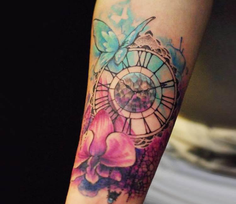 clock tattoo by versus ink post 15318. Black Bedroom Furniture Sets. Home Design Ideas