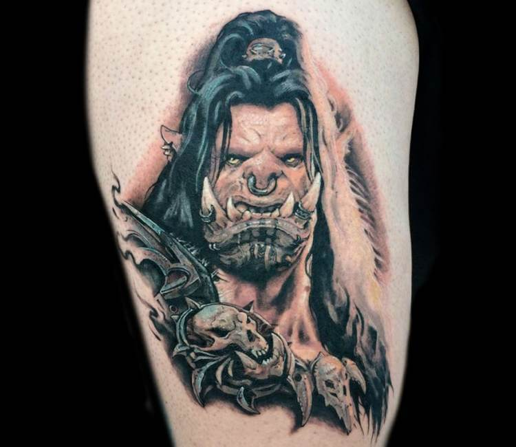 Warcraft Tattoo By Victor Zetall
