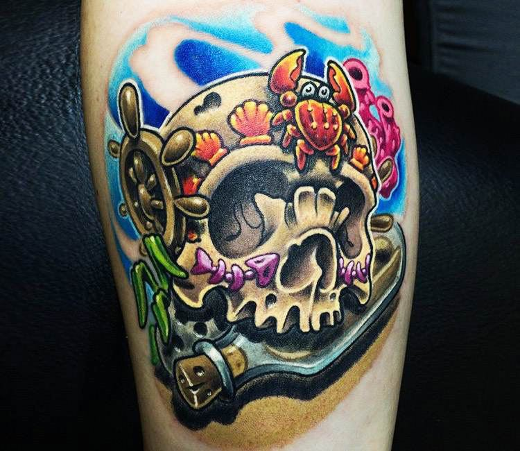 Nautical Skull Tattoo By Vincent Zattera Post 16352