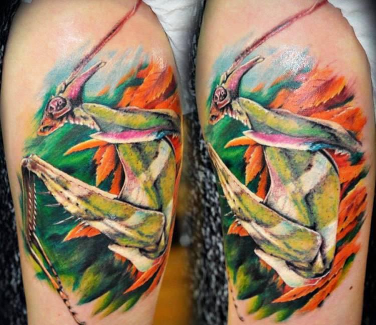 Praying Mantises Tattoo By Vlad Tokmenin Post 16305